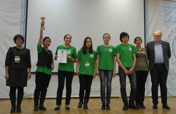 Победители Турнира в Якутске - команда Сплайсинг (Якутский городской лицей)