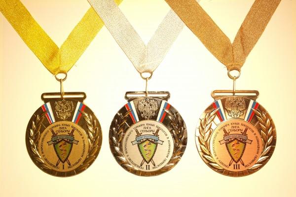 Набор медалей в командном первенстве X ВТЮБ