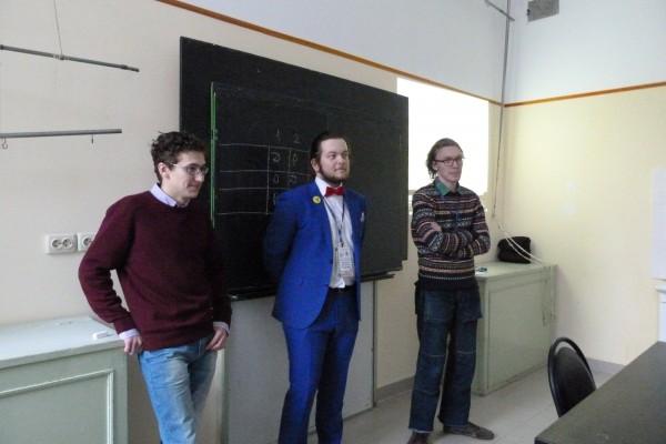 Во время конкурса капитанов Студенческого Биотурнира 2017