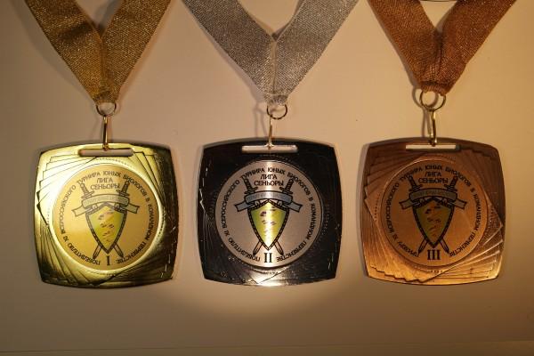 Набор медалей в командном первенстве XI ВТЮБ
