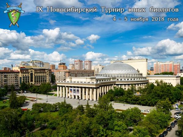 Постер Новосибирского Турнира юных биологов 2018