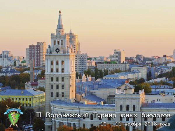 Постер Воронежского Турнира юных биологов - 2018