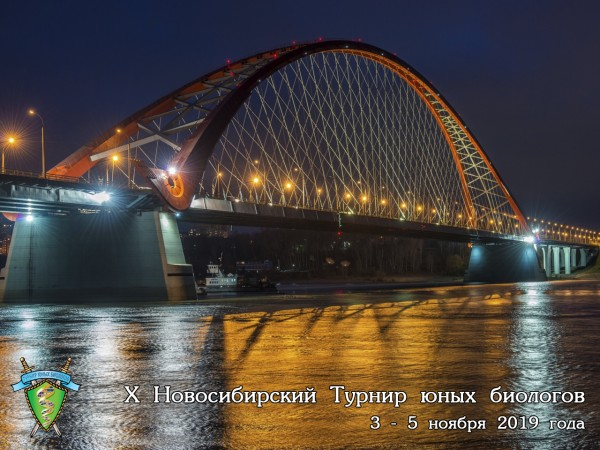 Постер Новосибирского Турнира юных биологов 2019 года