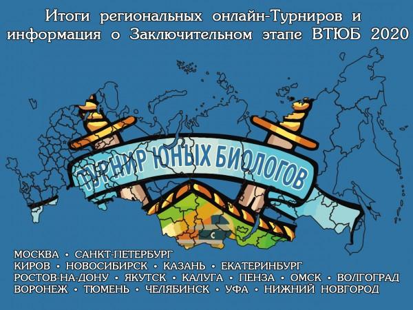 Итоги региональных онлайн-Турниров и информация о Заключительном этапе ВТЮБ-2020